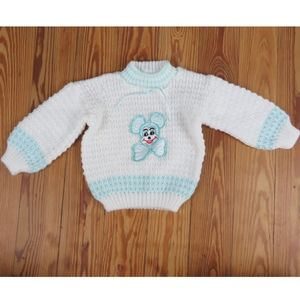 Vintage Baby Mickey Mouse Sweater Knit 18 - 24 m